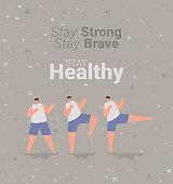 stay healthy card