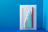 Red Bar Rising Up Business Growth Chart