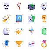 Set of High Quality Magic Flat Icons