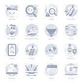 Set of Media Flat Rounded Icons