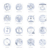 Flat Icons of Web and Apps