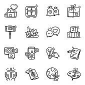 Set of Modern Doodle Icons