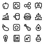 Pack of Different Solid Icons in Editable Style