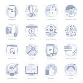 Flat Icons of Social Media