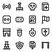 Set of Modern Solid Icons