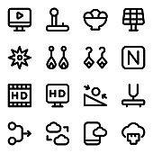 Set of Modish Solid Icons