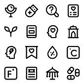 Set of Solid Icons in Modern Designs