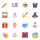 Top Tricky Flat Magic Icons