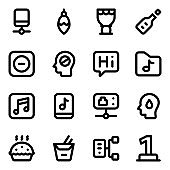 Set of Smart Technology Solid Icons