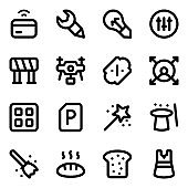 Pack of Ui Glyph Icons