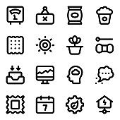 Pack of Modern Technology Glyph Icons