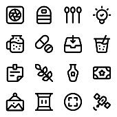 Set of Modern Equipment solid Icons