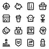 Set of Knowledge Solid Icons