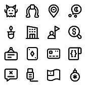 Set of Ui Ux Solid Icons