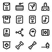 Set of Official Documents Solid Icons
