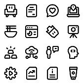 Pack of Business and Finance Glyph Icons