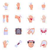 Set of Orthopaedics Flat Icons