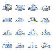 Pack of Data Reporting Flat Illustration
