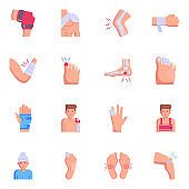 16 Top Trendy Bones Fracture Flat Icons