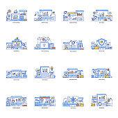 Pack of Digital Marketing Flat Illustrations