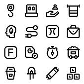 Pack of Business Glyph Icons