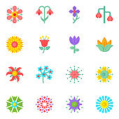 Set of Wildflowers and Horticulture Editable Flat Icons