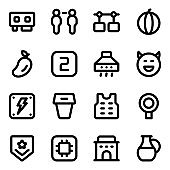 Pack of Electrical Components Solid Icons