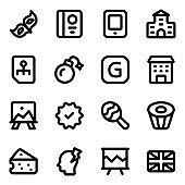 Pack of Ethnicity Solid Icons