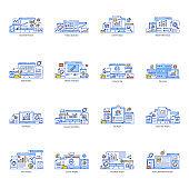 Pack of Data Analysis Flat Illustrations