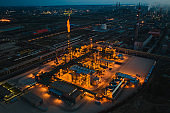 Night chemical factory