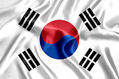 Flag of South Korea silk
