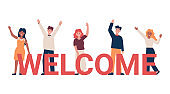 welcome concept team of people