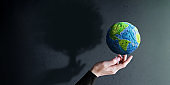 World Earth Day, ESG Concept. Green Energy, Renewable and Sustainable Resources. Environmental and Ecology Care