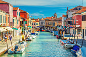 Murano islands with water canal