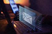 email marketing concept, send e-mail