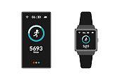 vector design of smart phones and smart watches
