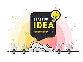 Idea rocket launch for idea boost.