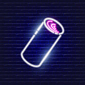 Roll with jam neon icon. Glowing Vector illustration icon for mobile, web and menu design. Food concept.