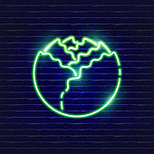 White cabbage neon icon. Glowing Vector illustration icon for mobile, web and menu design. Food concept