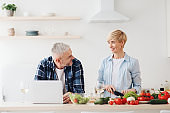 Free time together, preparing food for dinner and work remotely at home