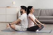 Workout at home together, vitality, active, exercise and body care during covid-19 pandemic