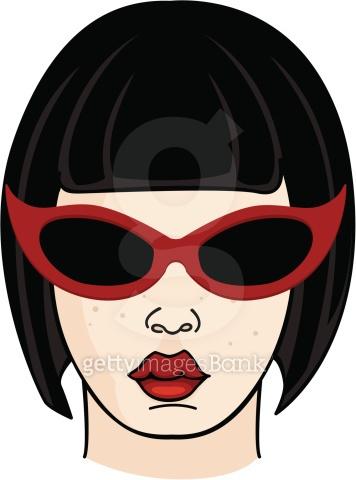 Black Hair Girl Wearing Sunglasses