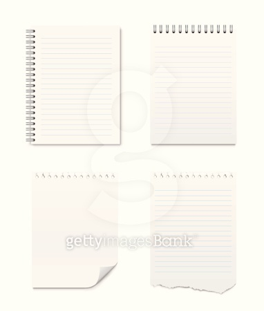 Set of Notepads and Blank Pages