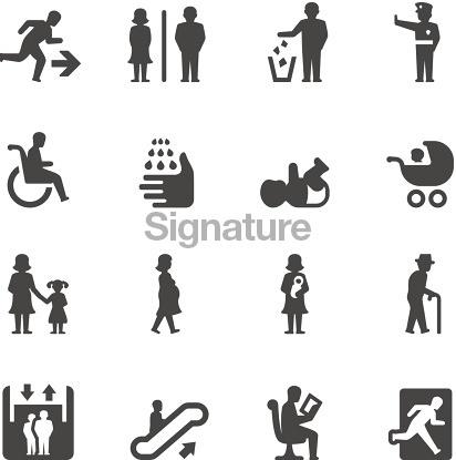 Mobico icons — Public places