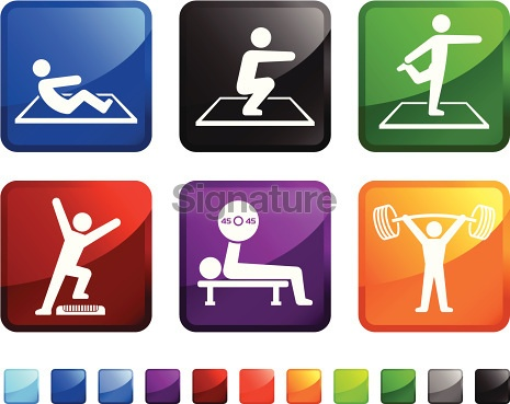 Physical Fitness sticker set