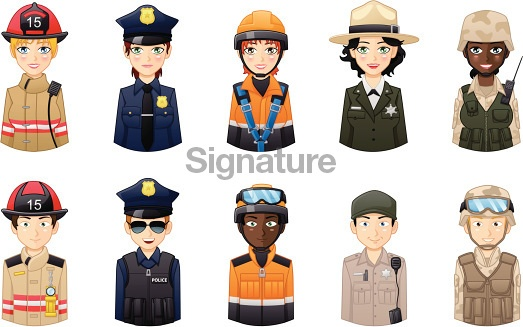 Professions avatars set 1