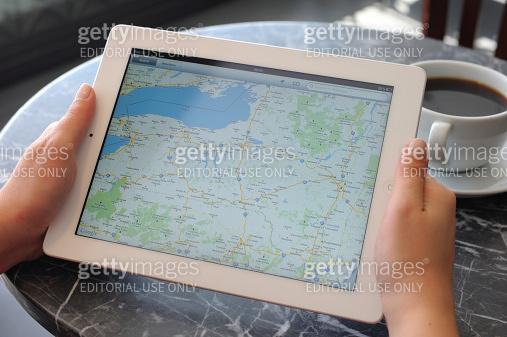 Google maps on iPad 3