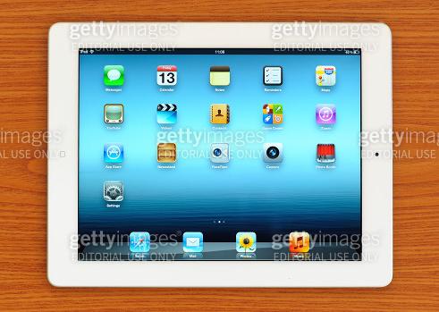 The New iPad 3 on desk