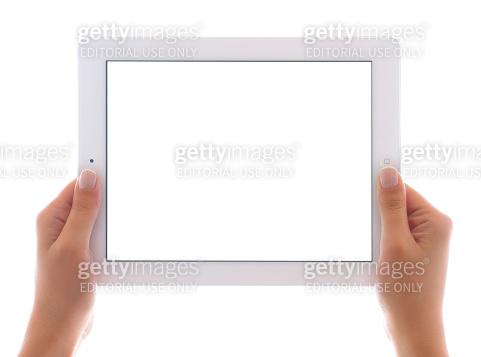 Holding white screen iPad 3
