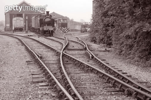 Railway Engine and Goods Shed